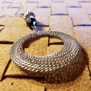 Jewelry - Mesh Ring Pendant Necklace
